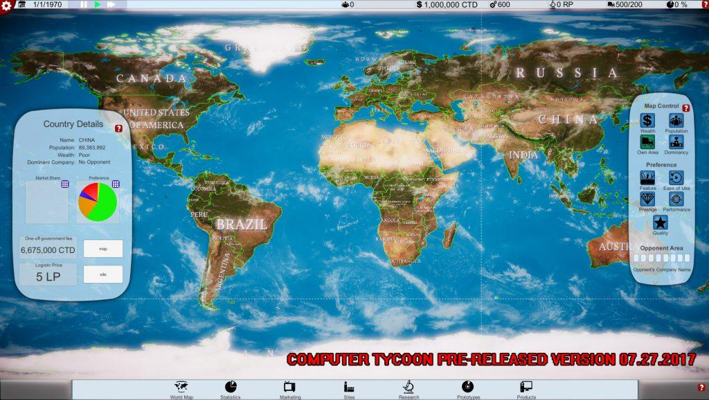 Computer Tycoon - WorldMap